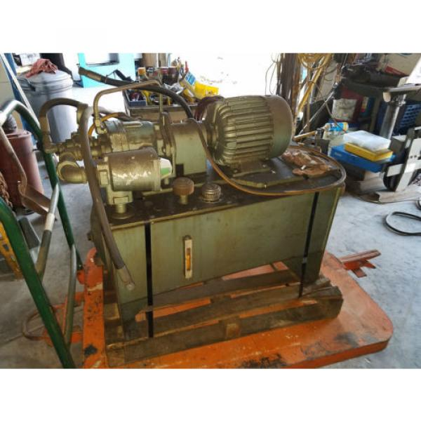 Vickers Bulgaria  Hydraulic Power Source / Vickers Pump Model #: PVB10-FRSY-C-11 3 Hp #5 image