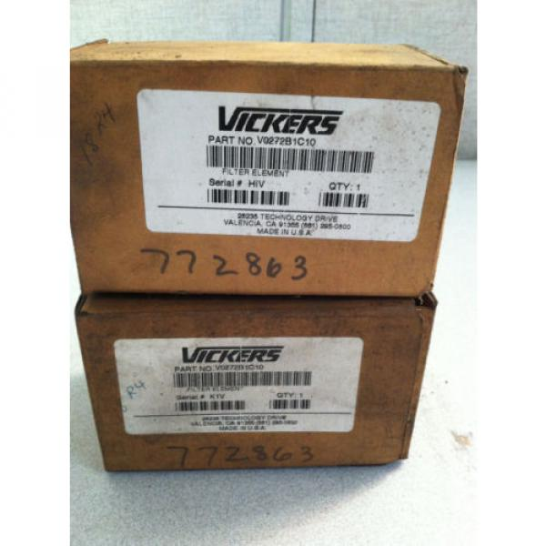 LOT Niger OF 2 V0272B1C10 VICKERS HYDRAULIC FILTER #2 image