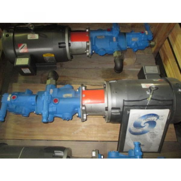 Origin Russia  VICKERS HYDRAULIC PUMP PV032 B2R PV013 A2R WITH BALDOR MOTOR 7 1/2 HP #1 image