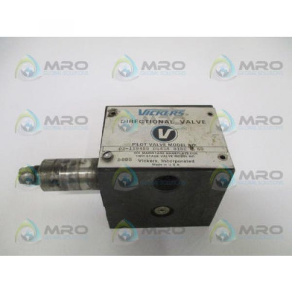 VICKERS Gambia  DG4S4018CB60 DIRECTIONAL PILOT VALVE AS PICTURED USED #1 image