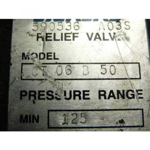 Vickers Netheriands CT06B50 Relief Valve 125-1000 PSI 3/4 #5 image