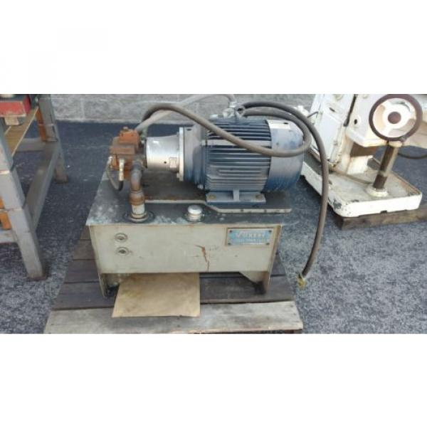 25 Liberia Ton Hydraulic Down-acting Press die cutter 36#034;  Vickers Hydraulic Power pack #5 image