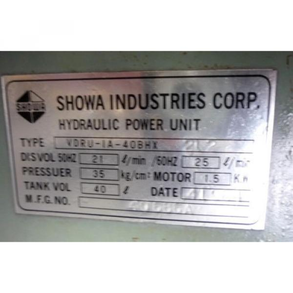 SHOWA Romania  VDRU-1A-40BHX 212 Hydraulic Power Unit NACHI VDR-1A-1A2-21 Pump OKUMA LB15 #2 image