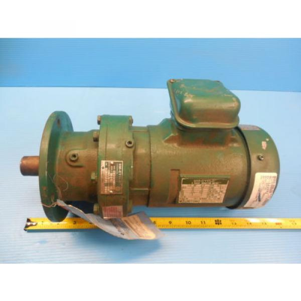 SM CYCLO SUMITOMO TC F 3 PHASE INDUCTION MOTOR 3 HP CNHM3 4105YA 8 GEAR REDUCER #1 image