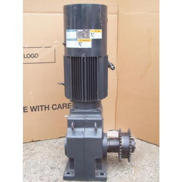 5 HP INDUCTION GEAR MOTOR RNHMS5-63L-V1-B-15  SUMITOMO HYPONIC DRIVE 37 KW #1 image