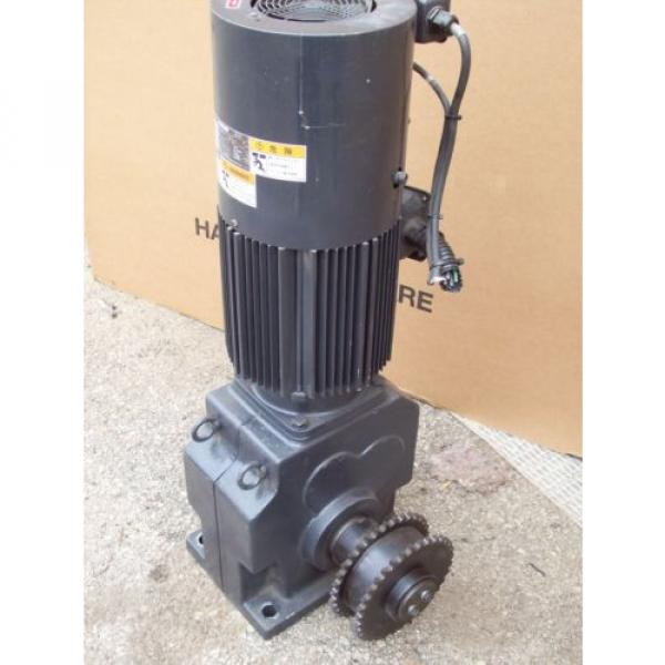 5 HP INDUCTION GEAR MOTOR RNHMS5-63L-V1-B-15  SUMITOMO HYPONIC DRIVE 37 KW #2 image