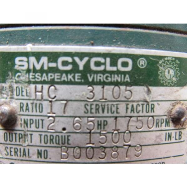Sumitomo SM-Cyclo HC3105 Inline Gear Reducer 17:1 Ratio 265 Hp #9 image