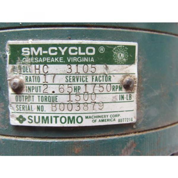 Sumitomo SM-Cyclo HC3105 Inline Gear Reducer 17:1 Ratio 265 Hp #10 image