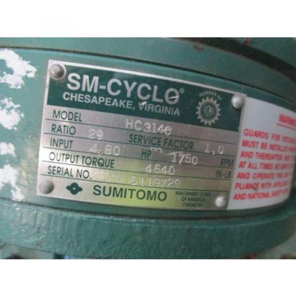 SUMITOMO SM-CYCLO 29:1 RATIO GEAR SPEED REDUCER 480 HP HC3140 #4 image