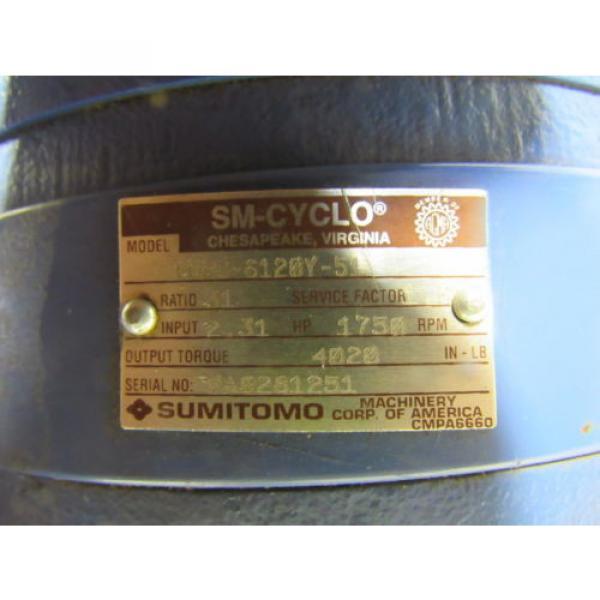 Sumitomo SM-Cyclo CNHJ-6120Y-51 Inline Gear Reducer 51:1 Ratio 231 Hp #10 image