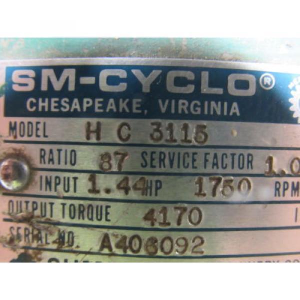 Sumitomo SM-Cyclo HC 3115 Inline Gear Reducer 87:1 Ratio 144 Hp #10 image
