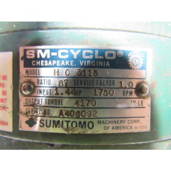 Sumitomo SM-Cyclo HC 3115 Inline Gear Reducer 87:1 Ratio 144 Hp #11 image