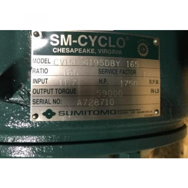 SM-CYCLO CVHJ Sumitomo Cyclo Speed Gear Reducer CVHJ-4195DBY-165 #6 image