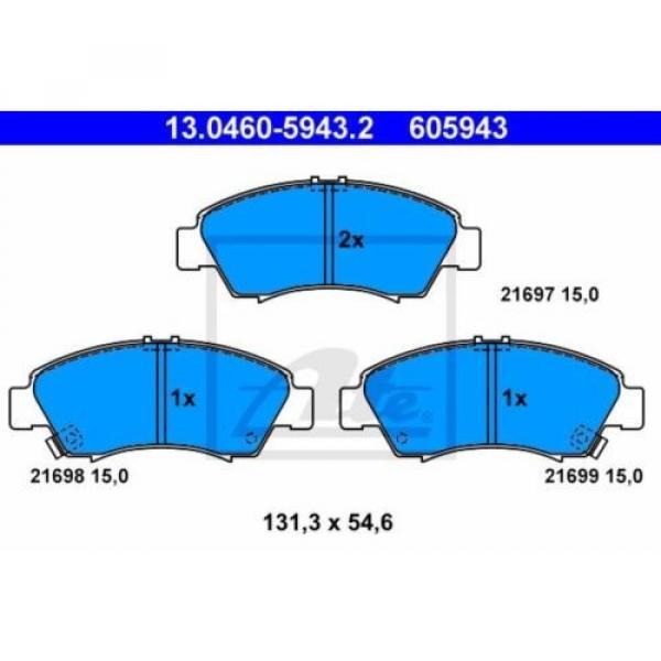 ATE 4x Bremsbeläge Bremsbelagsatz Vorne Honda #2 image