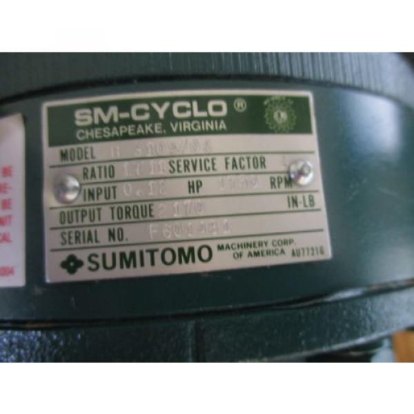 Sumitomo Model: H 3105/08 SM-CYCLO Gear Reducer Total Ration: 1711 lt; #4 image