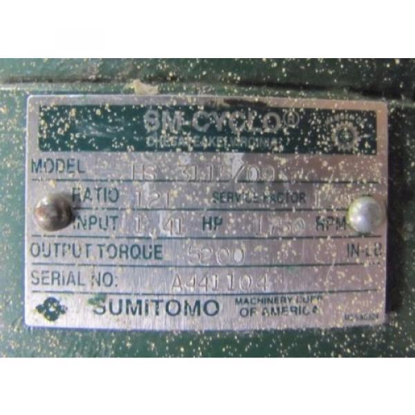 SUMITOMO HS 3115/09 SM-CYCLO 121:1 RATIO SPEED REDUCER GEARBOX Origin #2 image
