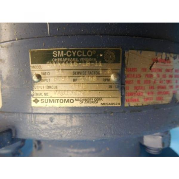 SUMITOMO CNVX 4115 LB 11 SPEED REDUCER INDUSTRIAL MADE IN USA SM CYCLO TOOLING #4 image