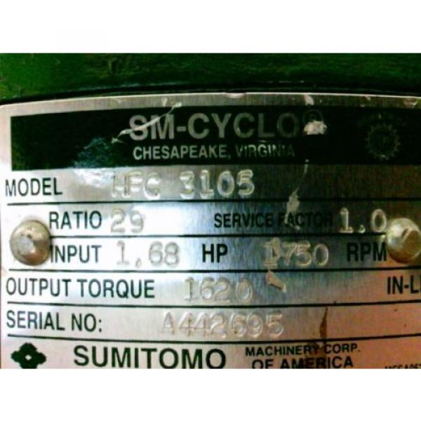 SUMITOMO SM-CYCLO REDUCER HFC3105 Ratio29 168Hp 1750Rpm Approx Shaft Dia 1140#034; #5 image