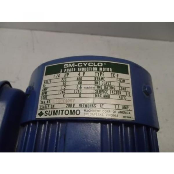 Sumitomo SM-CYCLO 3PH Induction Motor TC-F #3 image