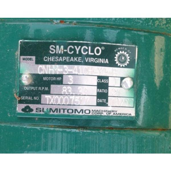 SM-CYCLO TC-F / FB-3B 3-PHASE INDUCTION MOTOR W/BRAKE SUMITOMO CNHM-3-410H-YA-B #2 image