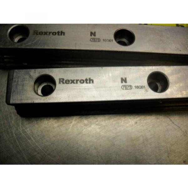 qty 2 - Rexroth 7873 16Q01 Linear Bearings Rail Guild 162MM long x 23MM wide #2 image