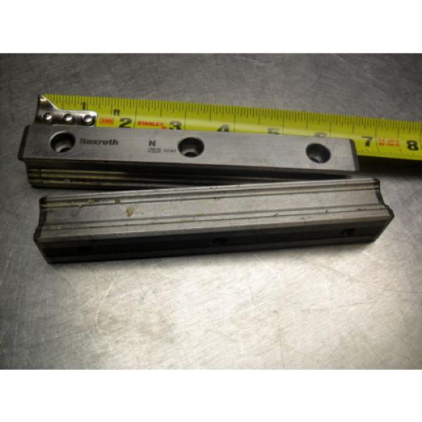 qty 2 - Rexroth 7873 16Q01 Linear Bearings Rail Guild 162MM long x 23MM wide #3 image