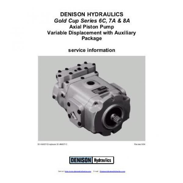 Dension Canada gold cup piston pump P30S-3R1E-9A2-B00-B1 #2 image