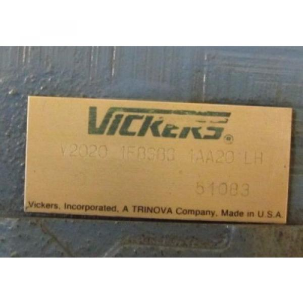 VICKERS Laos  V2020 1F8S8S 1AA20 LH 7/8#034; APPROXIMATE SHAFT HYDRAULIC VANE PUMP Origin #2 image
