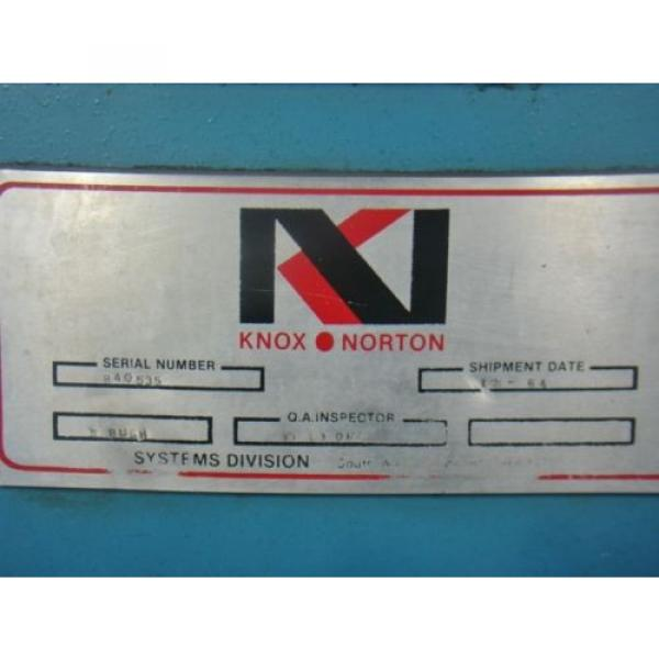 1hp Liberia  300psi Knox/norton hydraulic power supply VICKERS V101P5P1020 GE 5KC47UG694 #3 image