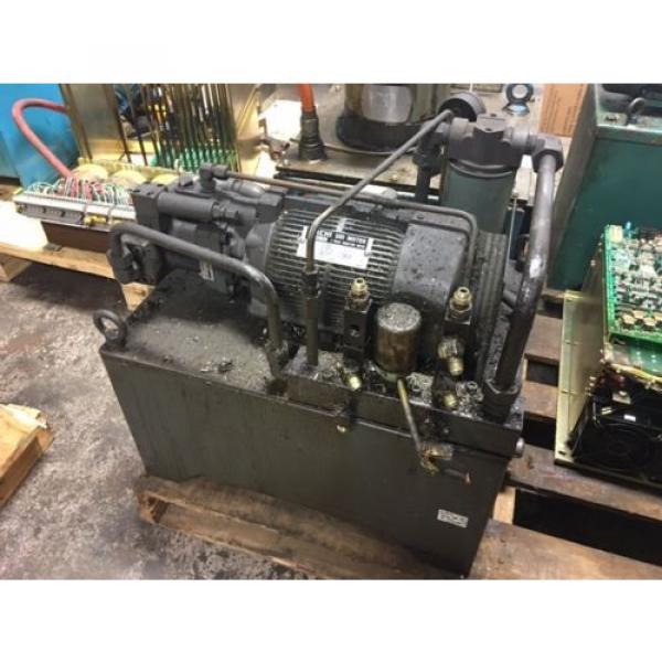 Nachi Grenada 2 HP 15kW Complete Hyd Unit w/ Tank, PVS-1B-16N1-2535A, Used, WARRANTY #1 image