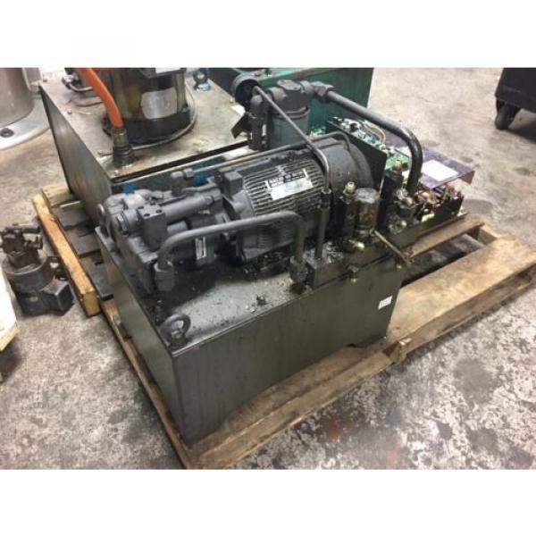 Nachi Grenada 2 HP 15kW Complete Hyd Unit w/ Tank, PVS-1B-16N1-2535A, Used, WARRANTY #2 image