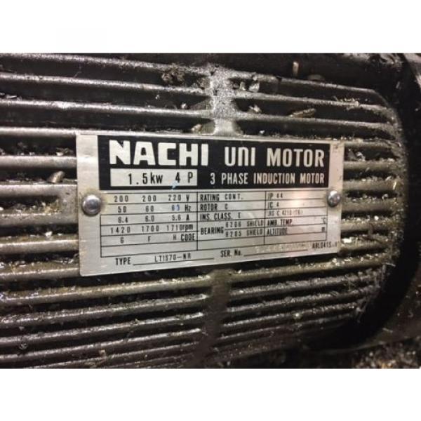 Nachi Grenada 2 HP 15kW Complete Hyd Unit w/ Tank, PVS-1B-16N1-2535A, Used, WARRANTY #4 image