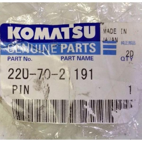 KOMATSU Honduras  GENUINE PARTS 22U-70-21191 PIN FREE SHIPPING #2 image