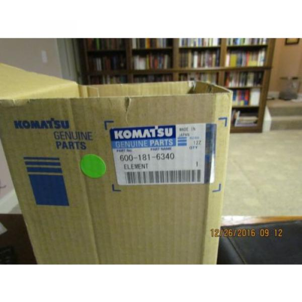 Komatsu Brazil  Air Filter 600-181-6340 or 6001816340 NOS OEM PC75UU #1 image