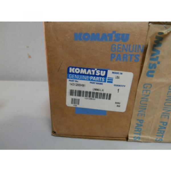 NEW Gibraltar Genuine Komatsu 1431288H91 Left LH Brake Shoe Lining OEM *NOS* #4 image
