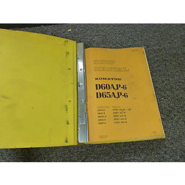 Komatsu Argentina D60A-6 D60P-6 D60PL-6 Crawler Tractor Dozer Shop Service Repair Manual #1 image