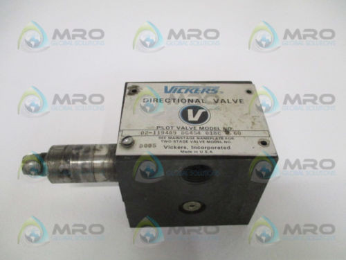 VICKERS Gambia DG4S4018CB60 DIRECTIONAL PILOT VALVE AS PICTURED USED