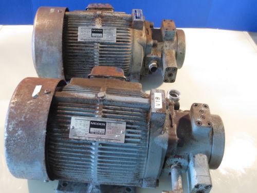 MEIDENSHA Kenya MEDEN MOTOR LTF70-NR NACHI PUMP VDR-1B-1A2-11 UVD-1A-A2-15-4-13