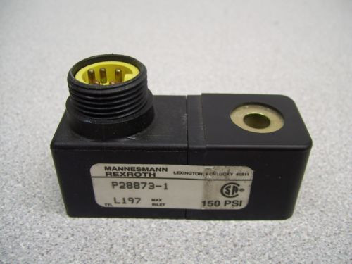 MX-394 MANNESMANN REXROTH P28873-1 SOLENOID LOT OF 3