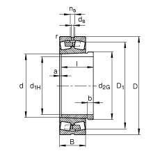 Spherical Roller Spherical Roller Bearing 239/670-B-K-MB + AH39/670-H FAG