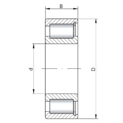 Cylindrical Roller Bearings NCF29/500 V CX