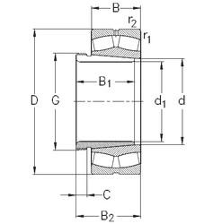 Spherical Roller Spherical Roller Bearing 239/670-K-MB-W33+AH39/670 NKE