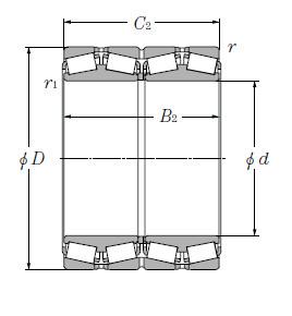 NTN Original Four Row Tapered Roller Bearing CRO-14601