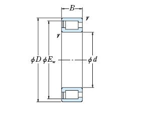 Full NSK cylindrical roller bearing RS-5036