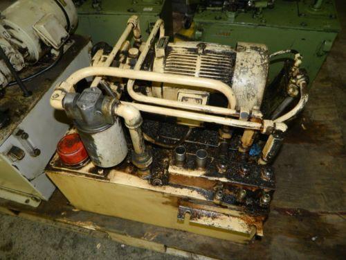 Nachi Bahrain 3 HP Oil Hydraulic Unit, Nachi Variable Vane Pump VDR-11B-1A2-1A2-22, Used