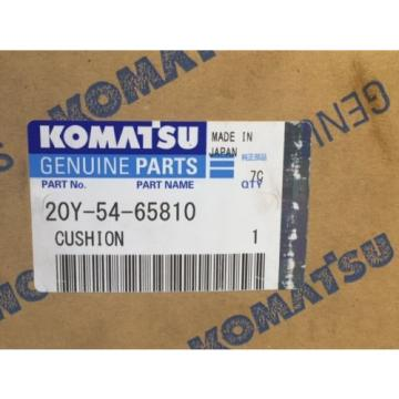 NEW Rep.  Genuine KOMATSU 20Y-54-65810 Cushion for PC 7 Models Excavator Made in Japan