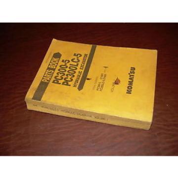 KOMATSU Liechtenstein 300 PC300 -5  EXCAVATOR PARTS CATALOG BOOK MANUAL