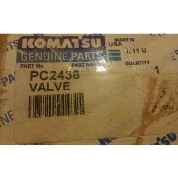 KOMATSU United States of America  VALVE PART PC2436 OLD PN XA1987