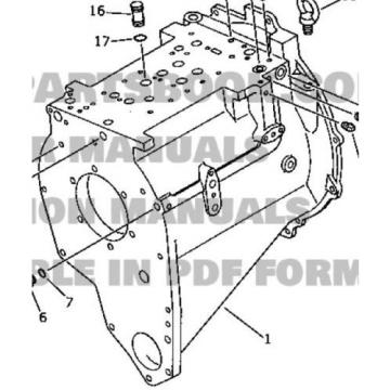 Komatsu Suriname  423-15-00100 NEW OEM Transmission Case Assembly for WA350-1, WA380-1