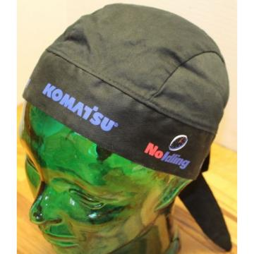 "NICE Iran  KOMATSU ""NO IDLING"" DO RAG BLACK IN VERY GOOD CONDITION"
